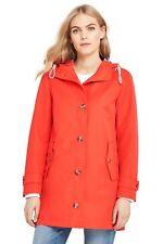 LANDS' END S(6-8), L(14-16) Crimson Orange Raincoat NWT $129