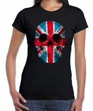 Union Jack Skull Women's T-Shirt - Flag Holidays Footbal Rugby Athletics