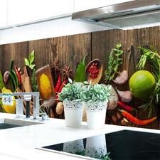 Küchenrückwand Spices on Wood Premium Hart-PVC 0,4 mm selbstklebend