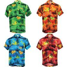 Hawaiian Shirt Mens Short Sleeve Palm Trees Party Aloha Beach Stag