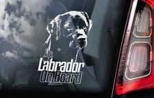 Labrador on Board - Car Window Sticker - Black Retriever Dog Decal Sign Gift V07