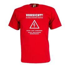 Vorsicht blankliegende Nerven, Fun T-Shirt witziges Sprüche Shirt lustig (FS156)