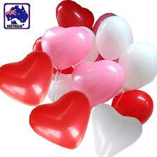 "100pcs Heart Shape 12"" Balloons Bulk Wedding Party Red Pink White GBALL12x100"