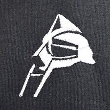 Máscara Mf Doom lado Bordado Hip Hop Negro Tee realidad Camiseta por