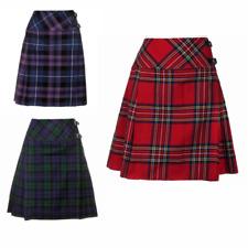 """New Ladies Scottish 20"""" Knee Length Kilt Mod Skirt Range of Tartans Size 6-18"""