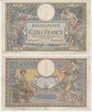 Gertbrolen Rare 100 FRANCS( LUC OLIVIER MERSON )  du 20-8-1908   L.385 avec LOM