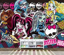 Monster high mural wall art qualité pastable papier peint autocollant