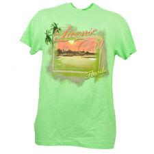 License to Chill Florida Neon Green Tshirt Tee Mens Short Sleeve Vacation Beach
