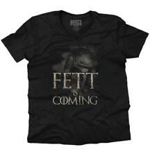 Boba Fett Is Coming Funny Game Of Thrones Star Wars Mashup V-Neck T-Shirt