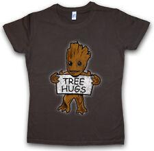 TREE HUGS WOMEN T-SHIRT Guardians Fun Comic Groot Baby Tree Root of the Galaxy
