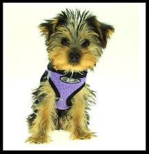 ULTRA CHOKE FREE MESH DOG STEP IN HARNESS COLLAR PURPLE USA XS S M L
