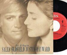 SALLY OLDFIELD JUSTIN HAYWARD disco 45 giri MADE in HOLLAND 1989 Let it begin