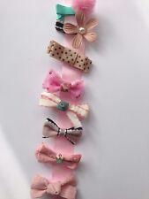 Lot de 8 Filles Noeud Ruban clips cheveux Bandeau Couronne Fleur épingle à cheveux