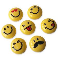 7 un. Resina Dorso Plano Cabujones Smiley Emjoi emoticonos Adorno Dijes Kitsch
