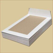 Papprückwand Versandtaschen DIN B5 weiß Haftklebung Papprückwandtaschen