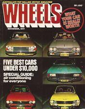 Wheels Nov 77 Alfa GTV 504 GXL Alfasud Accord Alfetta GLF Subaru  News:  •BMW