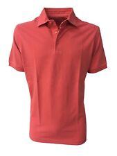 DELLA CIANA polo hombre de manga corta de color coral 100 % algodón