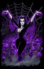 VAMPIRA ART POSTER PRINT SPIDER LADY GOTHIC VAMPIRE WOMAN WEB TV HORROR HOST