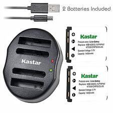 Kastar Battery & USB Dual Charger for Fujifilm NP-45 FinePix XP10 XP60 J10 J20