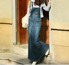 Women Oversized Suspenders Slip Skirts Denim Long Dress Loose Fit Casual Dress