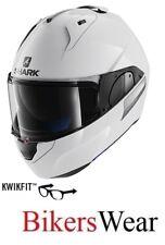 SHARK EVO-ONE 2 BLANK WHU FlipUp modular Motorcycle Motorbike Helmet- White ZE
