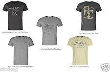 Pierre Cardin Cardin V Collo Stampa/firma Emblema/Marna Stampa T Shirt da uomo