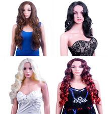 Señoras Forever Young Extra Largo Ondulado Fringeless Marrón Negro Rojo Rubio pelucas de Reino Unido
