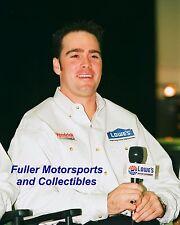JIMMIE JOHNSON 2002 ROOKIE NASCAR WINSTON CUP 8X10 PHOTO HENDRICK MOTORSPORTS