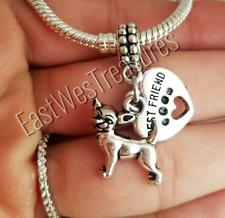 Love my Best Friend Chihuahua dog  European charm pendant F/Bracelet necklace