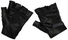 LEDERHANDSCHUHE Herren Leder Handschuhe ohne Finger fingerlos Biker Motorrad neu