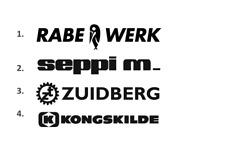 Sticker, aufkleber, decal - Rabewerk Seppi m Zuidberg Kongskilde 50 70 100 cm