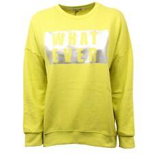 C4706 felpa donna SHOP ART verde lime sweatshirt woman