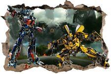 s91  Wandtattoo 120cm  TRANSFORMERS bumblebee optimus STICKER 3D Wandaufkleber