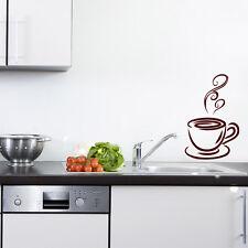 Wandtattoo Kaffee Tasse Hot Coffee Küche Kitchen cup +126+