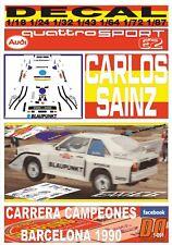 DECAL AUDI QUATTRO S1 AZUL CARLOS SAINZ CARRERA CAMPEONES BARCELONA 1990 (06)