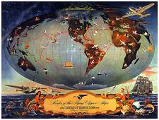 Quality POSTER.Map of the World.Mapa Mundi.Travel shop Interior Design art.v1354