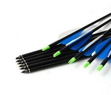 24 12 120 Archery Recurve/Compound Bow Steel Arrows Fiberglass Hunting Practice