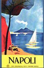 Poster Vintage Nápoles Italia Turismo A3/A2/A1 impresión