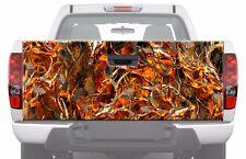 CAMO BLAZE BUCK SKULL in Fire Flames Tailgate Graphic Decal Sticker Pickup Truck