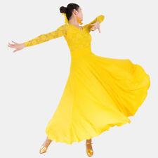 Latin Ballroom Dance Dress Modern Salsa Waltz Standard Long Dress#CB005 7 Colors