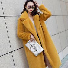 Korean Womens Faux Mink Fur S-2XL Parka Jacket Thicken Winter Suit Coats Zsell