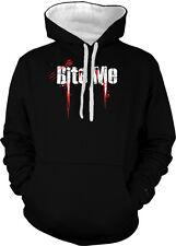 Bite Me Zombie Scary Horror Movie Vampire Blood 2-tone Hoodie Pullover
