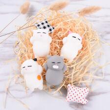Cute Expression Cat Ball Squishy Soft Bread Cell phone Straps Bun Key Chain、New