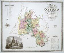 Mapa De Oxford-C J Greenwood - 39cms X 33cms Antiguo Oxfordshire Mapa
