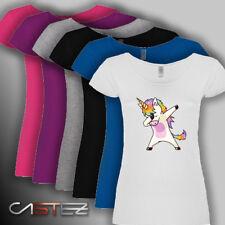 Camiseta mujer unicornio baile dabbing dab unicorn poni dance ENVIO 24/48h