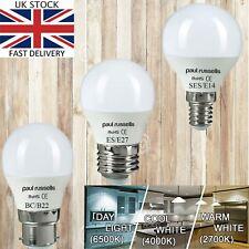 Paul Russells 3W 5W 7W LED Golf Ball G45 Bulbs B22-E27-E14 Warm/ Cool/DaylightA+
