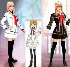 Cosplay Vampire Knight Costume dress Yuki Cross White & Black Uniform