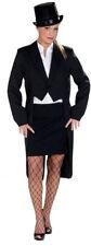 Klassischer Damenfrack in Schwarz NEU - Damen Karneval Fasching Verkleidung Kost