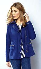 Ladies Cotton Casual Jacket Asymmetrical Zip Detail Blue Sizes 10, 12 BNWT