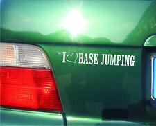 cartattoo4you AL-00701 I Love ( Herz ) BASE JUMPING * Aufkleber Sport Tuning Fun